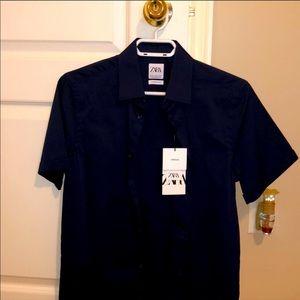 Zara Man shirt- navy blue
